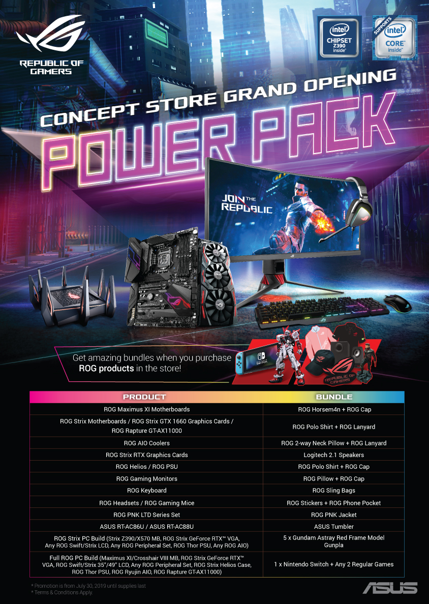 ROG Concept Store Gilmore Opening] For in-store claiming only