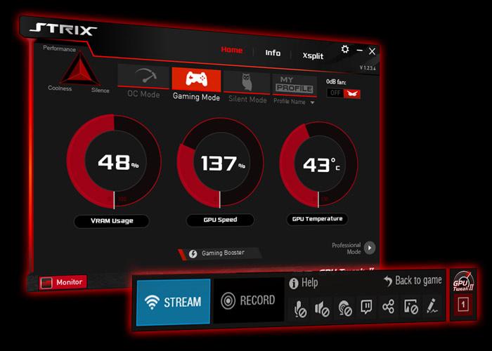 Resultado de imagen para GPU Tweak II con XSplit Gamecaster