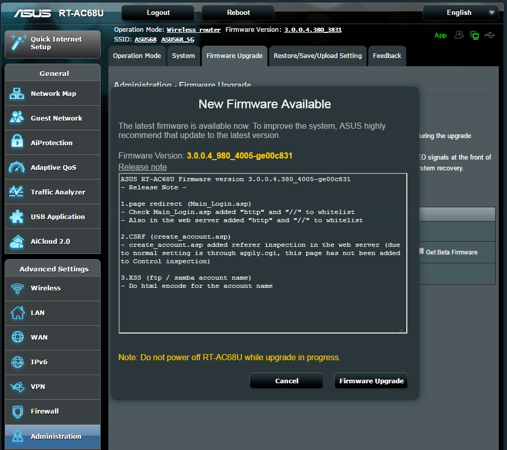 download latest firmware asus rt-ac68u