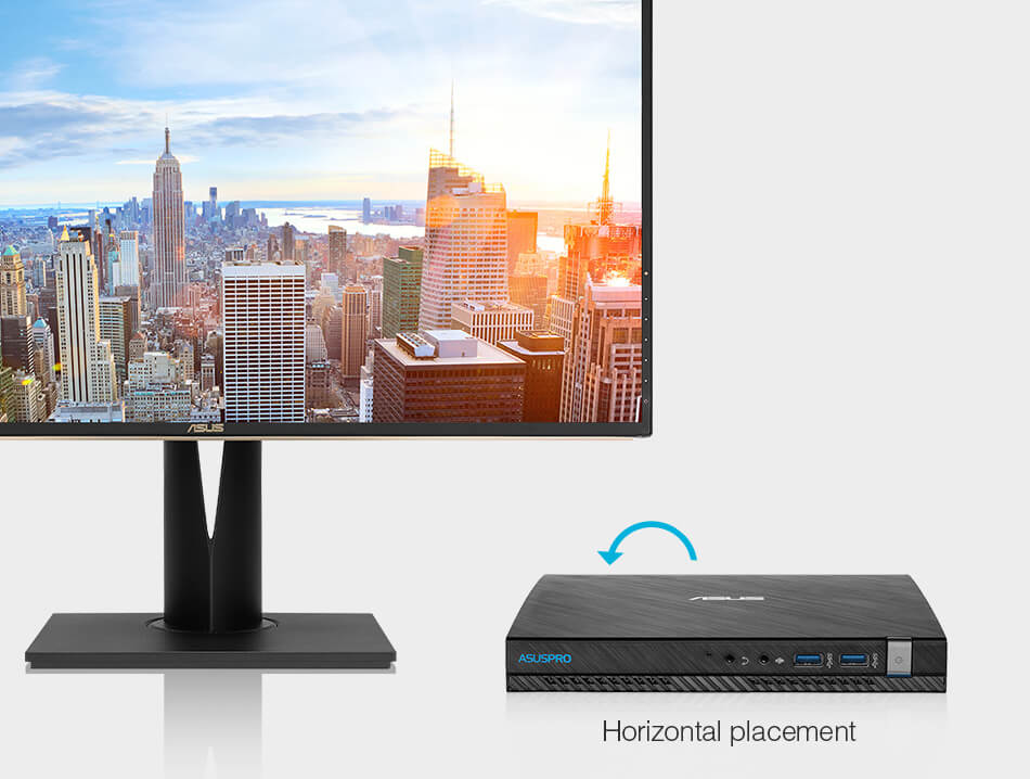 ASUSPRO E520-Business mini PC-Vesa-mount-vertical-horizontnal placement