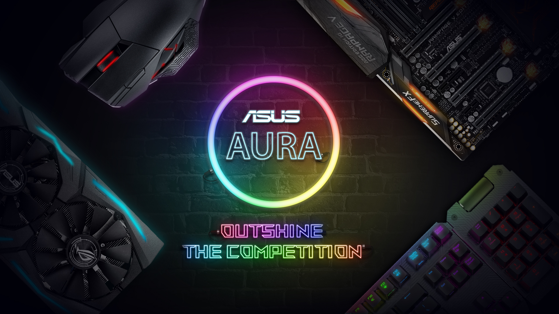 Asus Aura Outshine The Competition Circuit Board Mouse Pad Motherboard Geekery Sync Win Dream Pc Peripherals