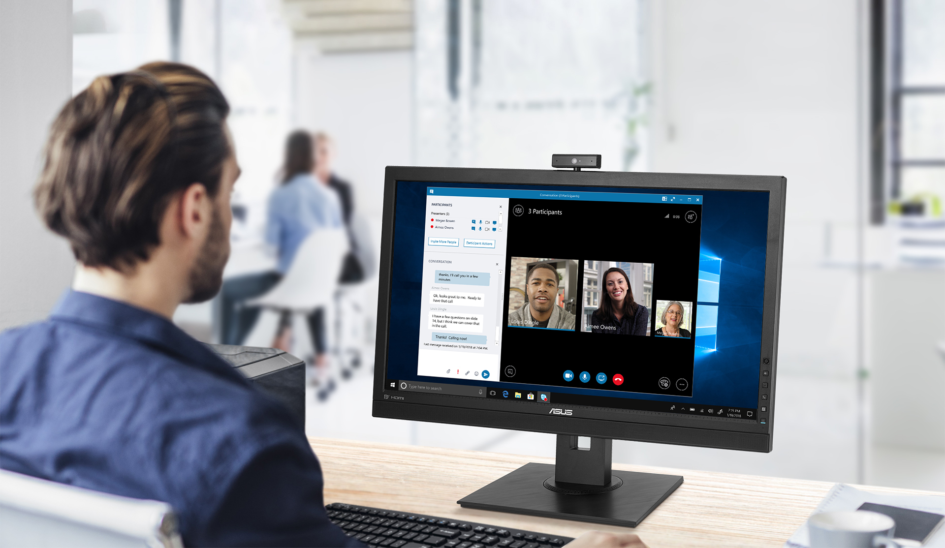 BE24DQLB is a 23.8-inch Full HD monitor that features an integrated Full HD (2MP) webcam, microphone array and stereo speakers for video conferencing and live-streaming.
