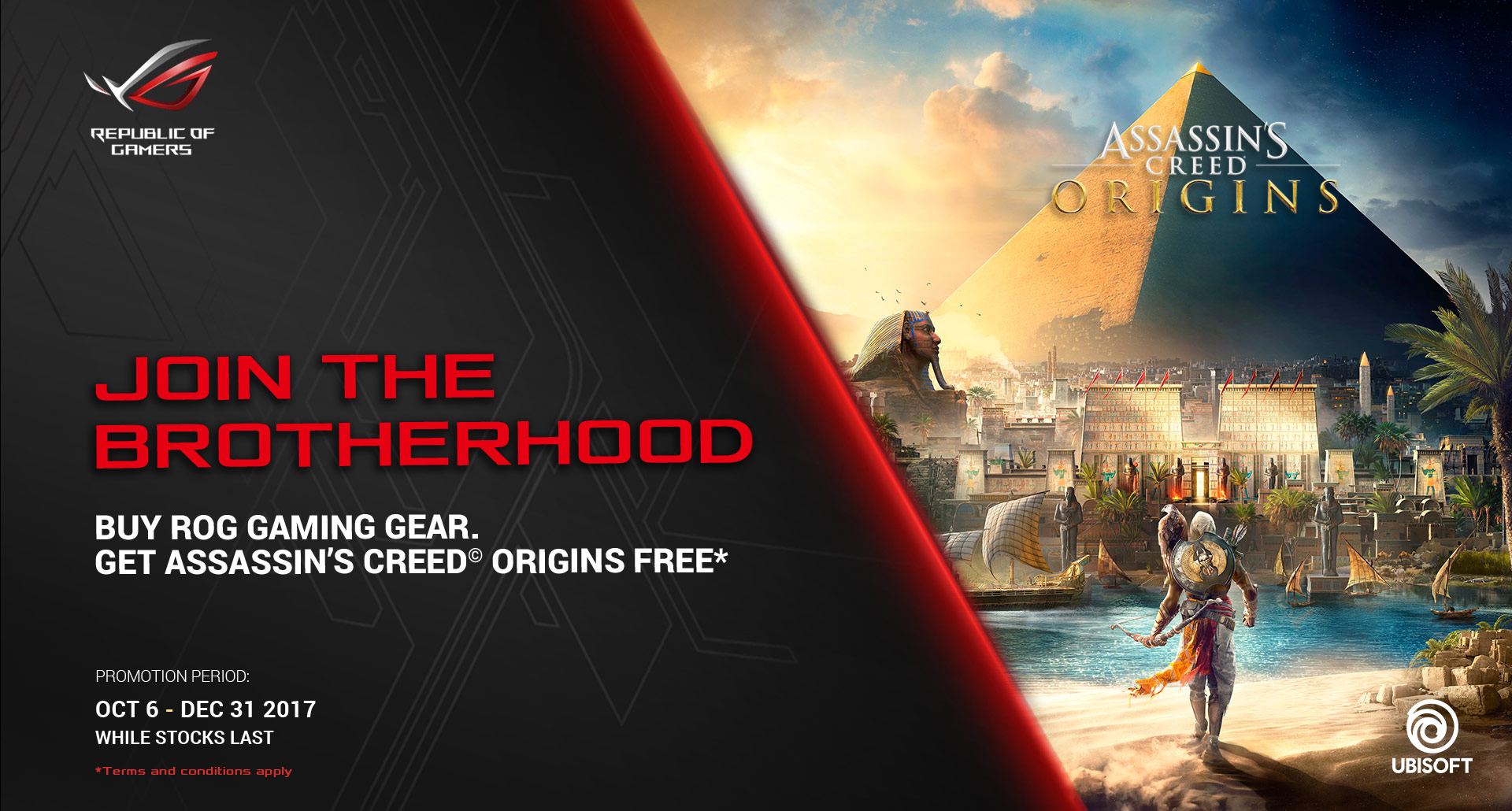 Asus Assassin S Creed Origins Game Bundle Promotion