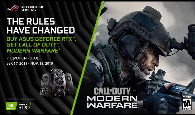 Buy Asus Geforce Rtx Get Call Of Duty Modern Warfare