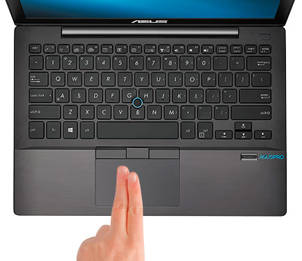 ASUSPRO Smart Gesture touchpad