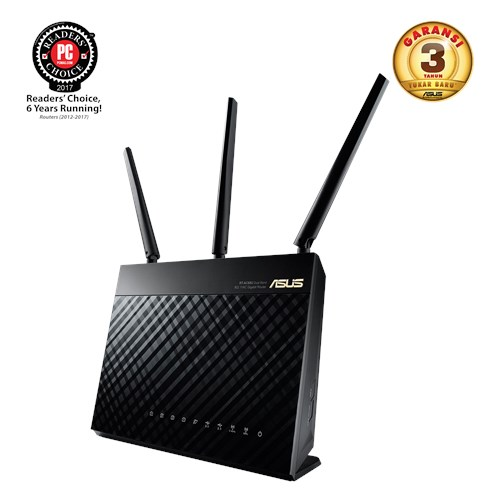 Rt ac68u networking asus indonesia ac1900 dual band gigabit wifi router aimesh untuk mesh wifi system aiprotection network security didukung trend micro adaptive qos dan parental control greentooth