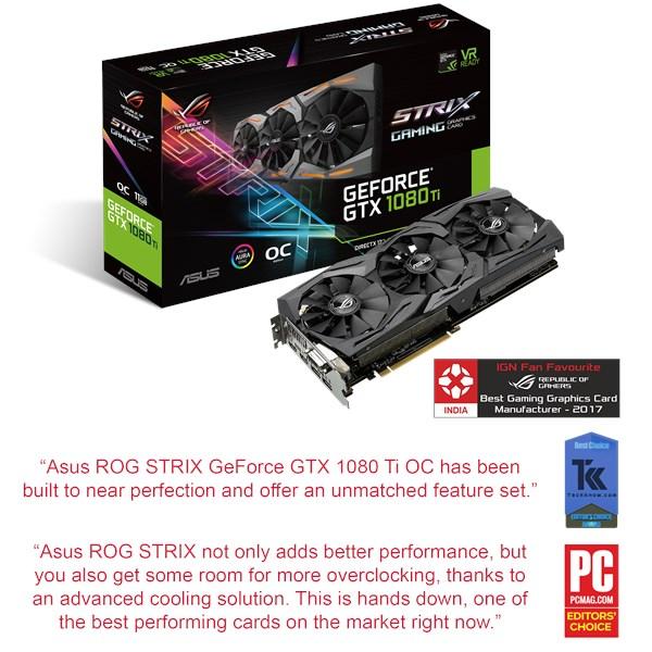 ROG-STRIX-GTX1080TI-O11G-GAMING | Graphics Cards | ASUS India