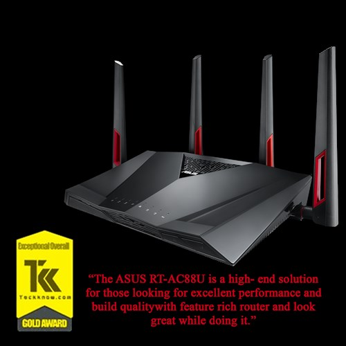 ASUS India- High-speed RT-AC88U AC3100 Dual-Band Wi-Fi Gigabit