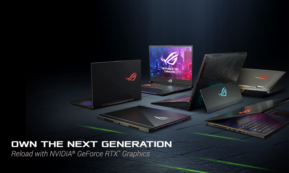 ROG laptops with GeForce RTX™ 20-Series graphics