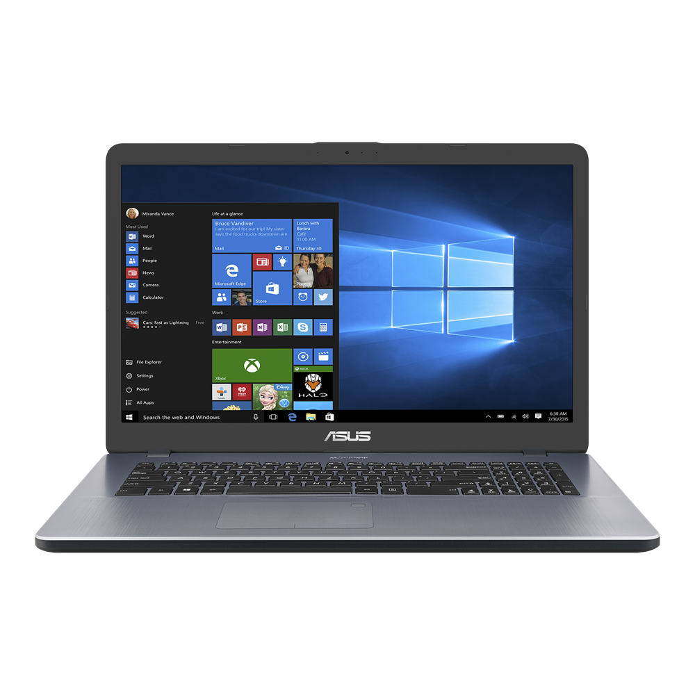 ASUS VivoBook 17 X705 laptop, star grey