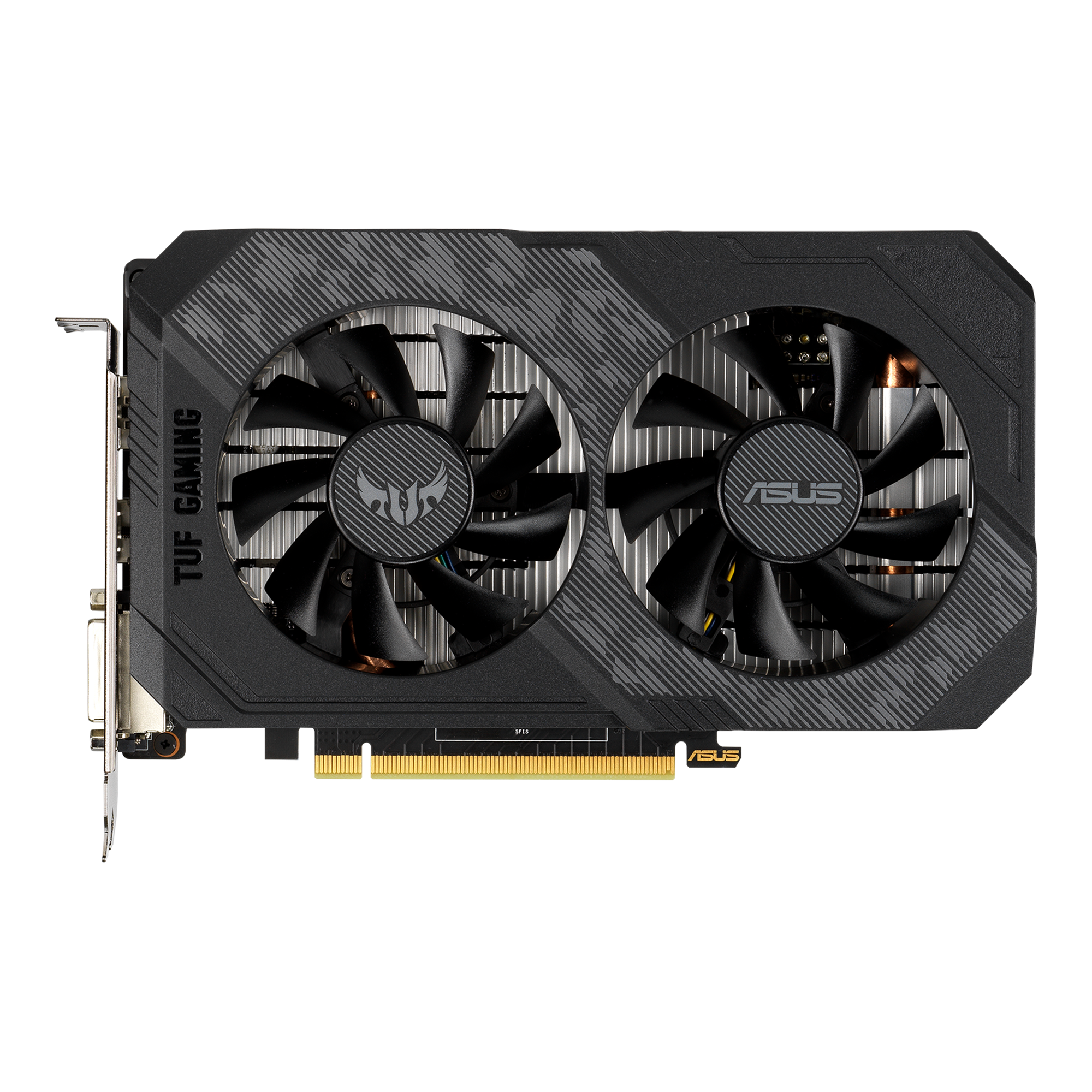ASUS TUF Gaming NVIDIA GeForce GTX 1650 OC Edition Graphics Card PCIe 3.0, 4GB GDDR6 Memory, HDMI, DisplayPort, DVI-D, IP5X Dust Resistance, Space-Grade Lubricant