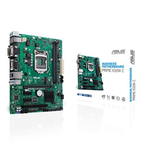 72b49749515 Micro-ATX H310 business motherboard with enhanced security, reliability and  manageability