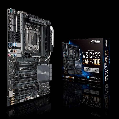 ASUS WS C422 SAGE/10G Motherboard for Intel® Xeon® W-Series Processors