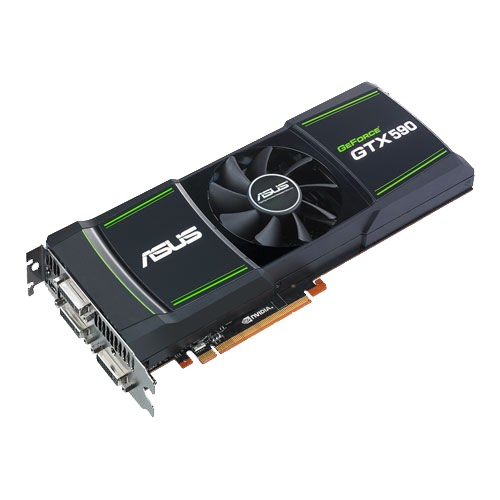 ASUS GTX 590 dual-GPU graphics card with 3GB GDDR5