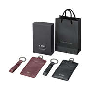 ASUS Double-sided Leather Card Holder & Key Chain Set