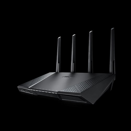rt ac87u networking asus usa ac2400 dual band gigabit wifi router mu mimo aiprotection network security powered by trend micro adaptive qos and parental control