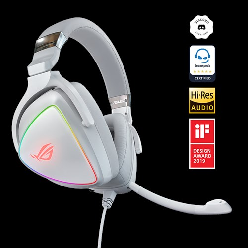 ROG Delta White Edition | Headphones & Headsets | ASUS