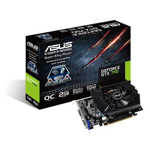 Original ASUS GTX 750 2GB GTX750-DF-2GD5 128 Bit GDDR5 Video Graphics Card