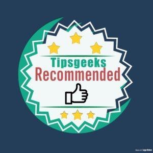 TipsGeeks Recommended Award
