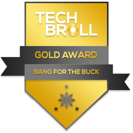 TechBroll Gold Award Solid Performance