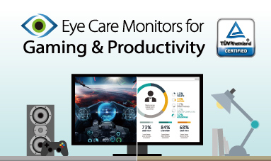 Monitores com tecnologia Eye Care