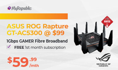 MyRepublic 1Gbps GAMER Plan