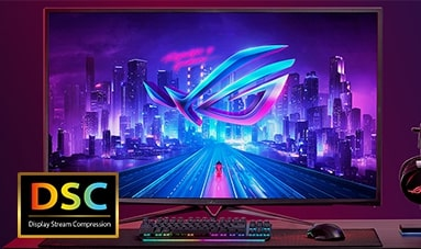 4k, 144Hz with DSC Technology