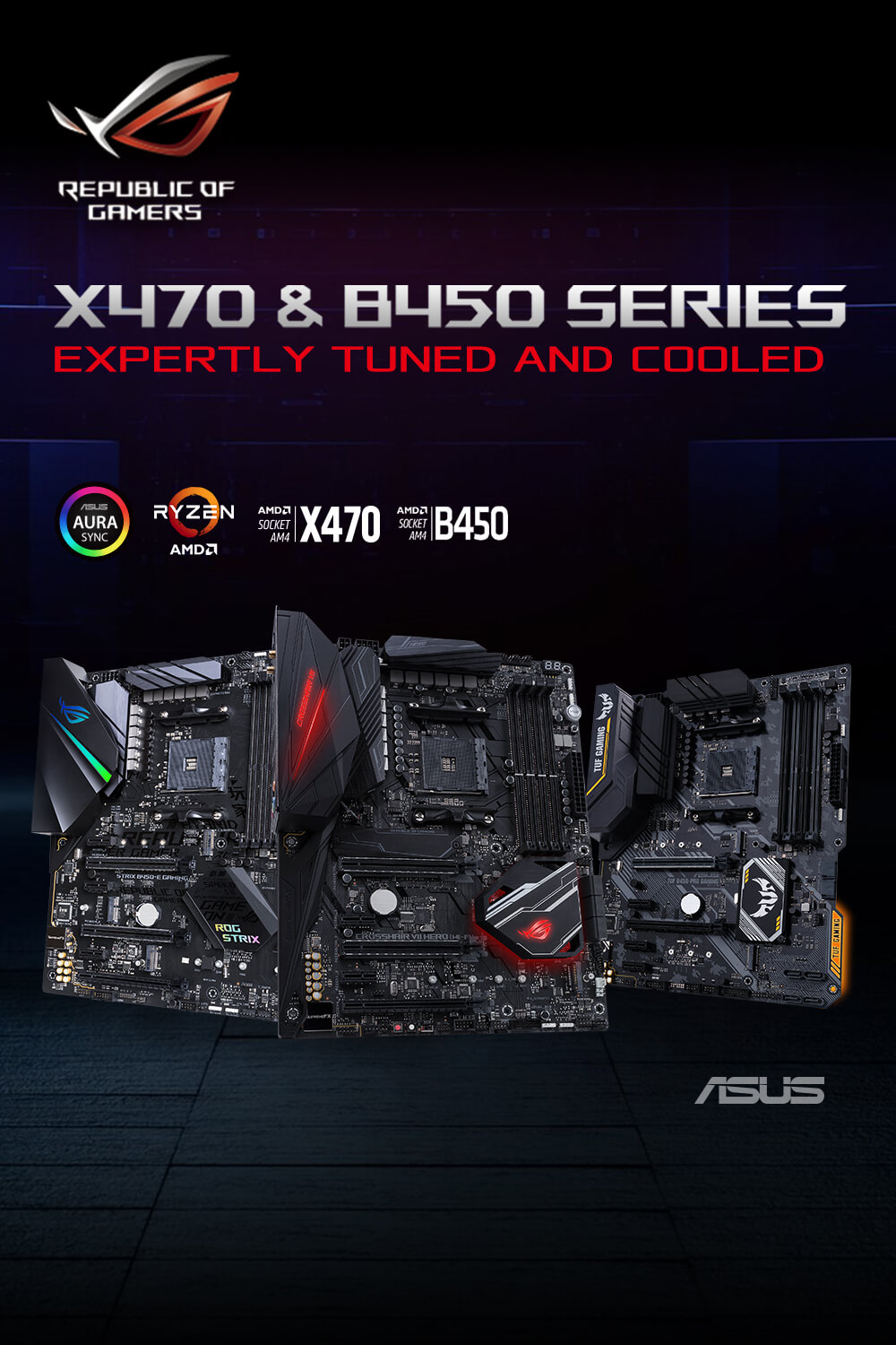 ASUS X470 motherboards