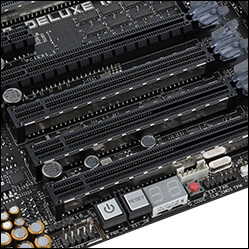 Close-up of PCIe SafeSlots